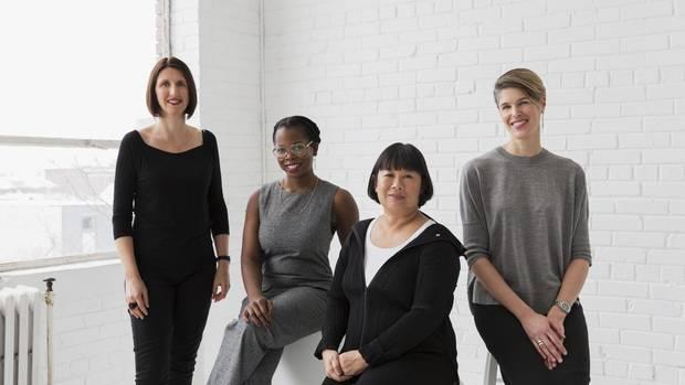From left, architects Heather Dubbeldam, Camille Mitchell, Brigitte Shim and Megan Torza.