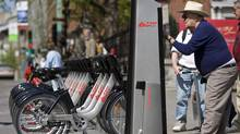 Montreal's Bixi program lets visitors rent a bike for an hour or a day. (CHRISTINNE MUSCHI)