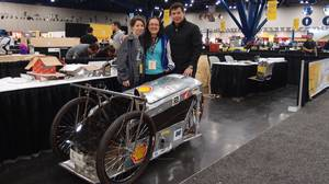 Team Guatemala and their more modest car, with the engine borrowed from Shurr High School in California