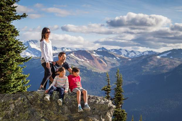 Whistler residents, from top left, Sonya Hwang, Harvey Lim and children Kai and Hana Lim include local outdoor experiences as part of their experiential gift ideas.