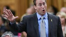 Canada's National Defence Minister Peter MacKay speaks during Question Period on Parliament Hill in Ottawa June 6, 2013. (BLAIR GABLE/REUTERS)