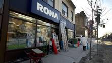Rona store in Queen Street east in Toronto. (Peter Power/Peter Power/The Globe and Mail)