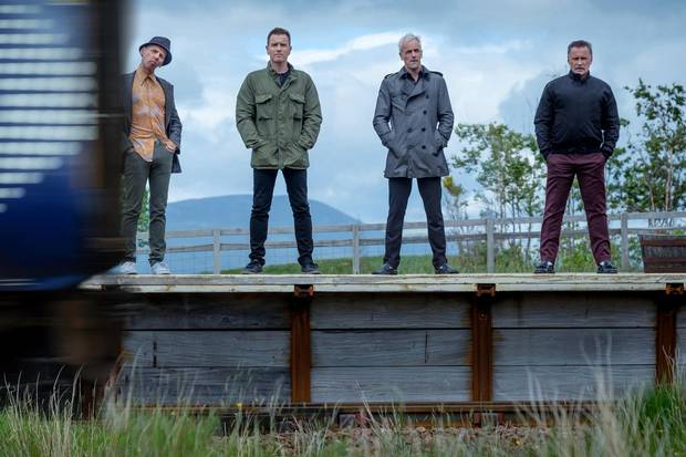 Ewan McGregor, Ewen Bremner, Jonny Lee Miller and Robert Carlyle in T2 Trainspotting.