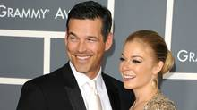 Actor Eddie Cibrian and singer LeAnn Rimes arrive at the 53rd Annual Grammy Awards in Los Angeles on February 13, 2011. (Jason Merritt/Jason Merritt/Getty Images)