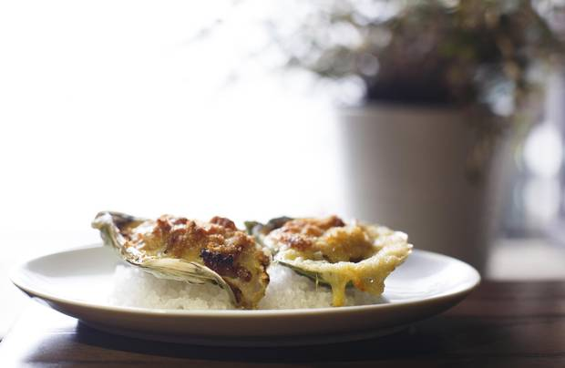 One of Wishbone's moments of brilliance is its baked oysters, an impeccable interpretation of Oysters Rockefeller.