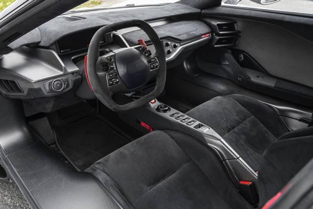 The interiors have a minimalist, track-focused design.