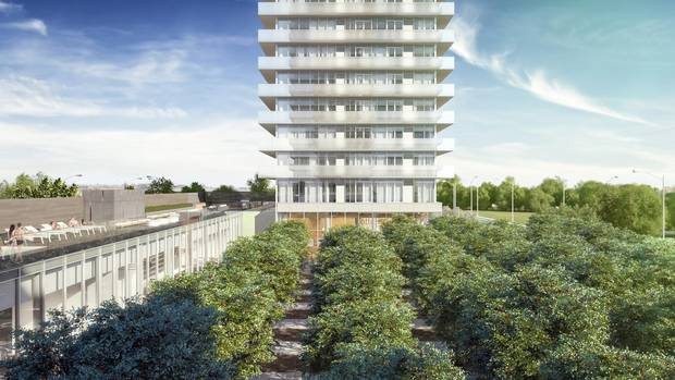 Lamb Development Corp. is slated to begin construction of The Orchard condominiums, pictured here, in the Victoria Park district of Calgary in the next six months.