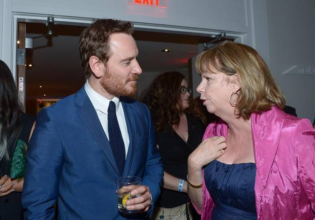 Actor Michael Fassbender and TIFF's executive director & COO Michele Maheux attend the TIFF Soiree after party during the 2016 Toronto International Film Festival at TIFF Bell Lightbox on September 7, 2016 in Toronto, Canada.