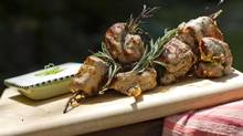 Pork souvlaki with rosemary and tzatziki. For the best tzatziki, use Greek yogurt. (Tim Fraser FOR THE GLOBE AND MAIL)