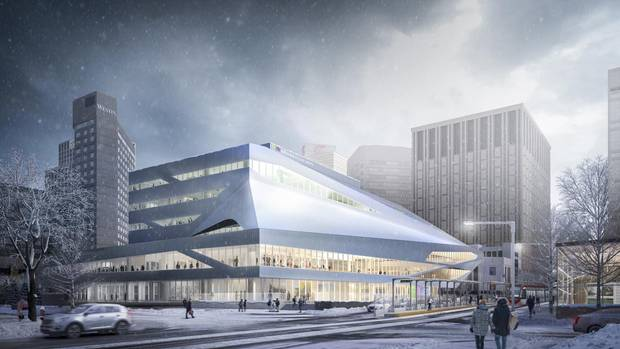 With the Milner Library's ambitious renovation, Toronto architect Stephen Teeple is determined to make an impact equivalent to that of the neighbouring Alberta Art Gallery's curvy metallic exterior and City Hall's glowing glass pyramid.