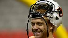B.C. Lions' quarterback Travis Lulay smiles during football practice in Vancouver, B.C., on Wednesday November 23, 2011. (DARRYL DYCK/THE CANADIAN PRESS/DARRYL DYCK/THE CANADIAN PRESS)