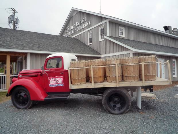 At the Covered Bridge Potato Chips factory, visitors can see how these delectable snacks are made.