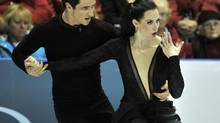 Tessa Virtue and Scott Moir of Canada compete in the ice dance free program during the Skate Canada International figure skating competition in Windsor October 27, 2012. (MIKE CASSESE/REUTERS)