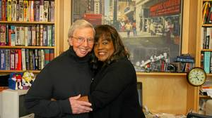 Sun Times Movie Critic Roger Ebert and his wife Chaz hug in his office of their home on the north side of Chicago.