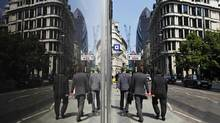 London's financial district. (Lefteris Pitarakis/Lefteris Pitarakis/Associated Press)