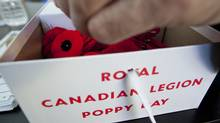 A box of Royal Canadian Legion Poppies for Remembrance Day photographed in Toronto, Ontario, Canada. (Deborah Baic / The Globe and Mail/Deborah Baic / The Globe and Mail)