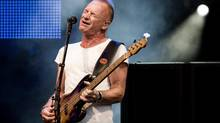 British singer-songwriter Sting performing at the Live at Sunset Festival in Zurich, Switzerland. (ENNIO LEANZA/AP)
