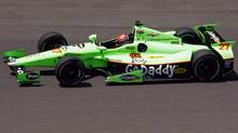 James Hinchcliffe of Canada drives laps during practice time at the Indianapolis Motor Speedway. (BRENT SMITH/Reuters)