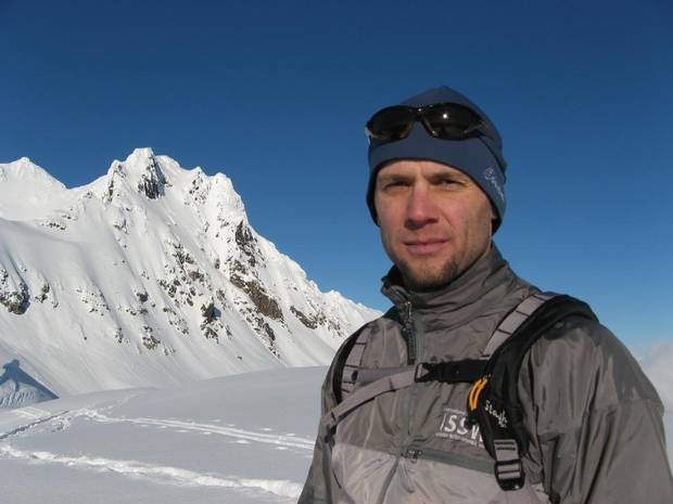 Pascal Haegeli, SFU Research Chair in Avalanche Risk Management, at Cayoosh Mountain north of Pemberton, B.C.