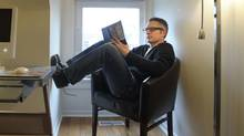 Author Andrew Pyper at his Toronto home on Dec 30 2010. Writing, and touring, can be solitary experiences. (Fred Lum/The Globe and Mail)