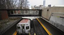 A Toronto subway train arrives at a downtown station last month. Toronto Mayor Rob Ford favours subway development over surface routes. (Fred Lum/Fred Lum/The Globe and Mail)