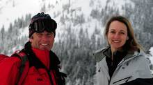Kieran, left and Paula Gaul, owners of Big Red Cats cat-ski operation (DAVID HARTMAN, HAYFIRE MEDIA)