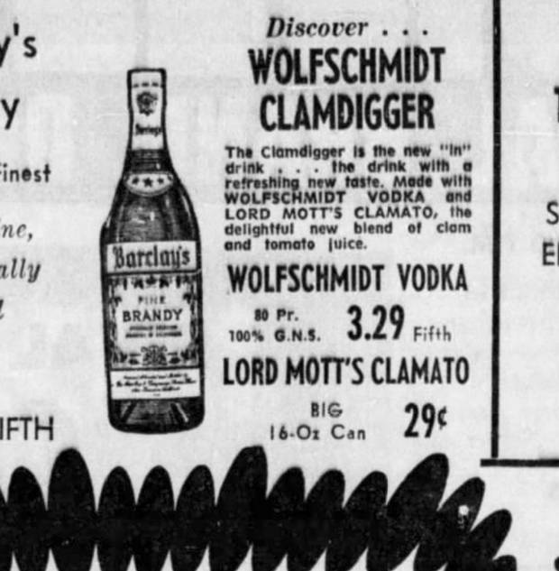 A November 1968 newspaper ad from Texas featuring the Wolfschmidt Clamdigger.