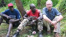 Peter Eichstaedt on the border of South Sudan and DR Congo in 2006
