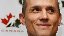 Steve Yzerman smiles as he is officially named as the executive director of Canada's National Men's Olympic Team for the 2010 Olympic Winter Games in Vancouver, BC., during a Hockey Canada press conference in Ottawa on Oct. 18, 2008. The decisions Yzerman has to oversee in the coming months will play a huge role in determining if the Canadian team wins gold in Vancouver. THE CANADIAN PRESS/Sean Kilpatrick (Sean Kilpatrick)