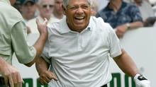 Lee Trevino erupts in laughter during the first round of the 2004 Bank of America Championship (JIM ROGASH/The Associated Press)