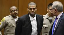 Singer Chris Brown in Los Angeles Superior Court on August 16, 2013 (REUTERS)
