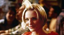 "Cameron Diaz in the infamous ""hair gel"" scene from ""There's Something About Mary"": Is this what women want in their movied?"