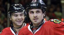 "Chicago Blackhawks' Dave Bolland has attempted to distance himself from his quip about the Sedin ""sisters"". THE CANADIAN PRESS/AP-Nam Y. Huh (AP-Nam Y. Huh/CP)"