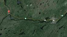 A group of current and former military members who were on vacation in central Newfoundland were driving between Grand Falls-Windsor and Badger on their way to go swimming Sunday when they put their rescue training to use pulling a bleeding woman from a burning truck. (GOOGLE EARTH)