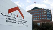 The Canada Mortgage and Housing Corporation (CMHC) complex in Ottawa. About 70 per cent of mortgages in Canada are insured and the government provides a 100 per cent guarantee of mortgages insured by CMHC. (Sean Kilpatrick/Globe and Mail)