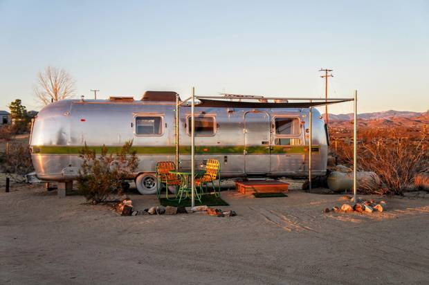 Lazy Desert Airstream Trailer Park offers rooms with a view.