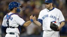 Toronto Blue Jays pitcher Steve Delabar led American League relievers in strikeouts, with 47, as of Wednesday night. (Frank Gunn/THE CANADIAN PRESS)