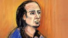 Sayfildin Tahir Sharif appears in court in Edmonton on Jan. 20, 2011 in this artist's sketch. The lawyer for Sharif, a Canadian man suspected of supporting a terrorist group, says his client will fight extradition to the United States. (Amanda McRoberts/CP/Amanda McRoberts/CP)