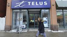 The Telus store at at 2187 Queen St. East in Toronto's Beach neighbourhood is photographed on March 5 2014. (Fred Lum/Fred Lum/The Globe and Mail)