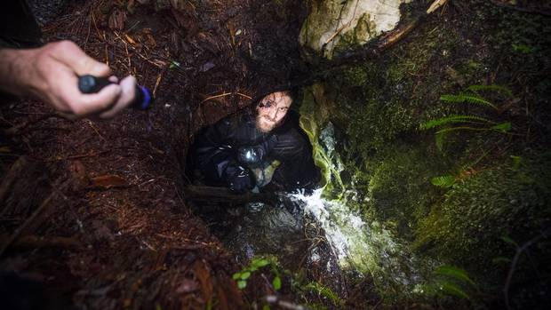 Mark Worthing of the Sierra Club of B.C. in a little sinkhole with exposed limestone in Walbran Valley on Vancouver Island.