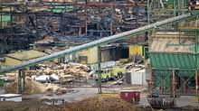 The Lakeland Sawmill in Prince George April 25, 2012 after a fire and explosion at the mill. (John Lehmann/Globe and Mail)