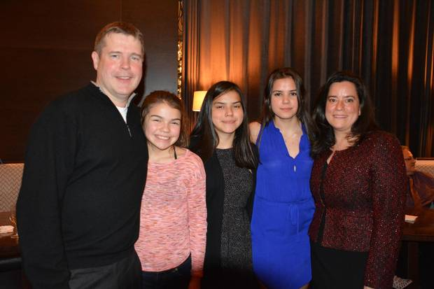 Tim Raybould, Ms. Wilson-Raybould and her three nieces.