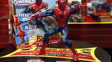 Sales of toys based on blockbuster films like Transformers, Spider-Man and Captain America have been surprisingly lacklustre. (Jason DeCrow/The Associated Press)
