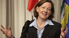 Alberta Premier Alison Redford speaks at a news conference about the Keystone XL pipeline at the Canadian Embassy in Washington Nov. 14, 2011. (Yuri Gripas/Reuters/Yuri Gripas/Reuters)