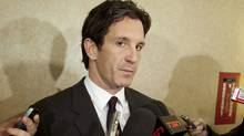 This Nov. 9, 2010 file photo shows NHL vice president Brendan Shanahan speaking to reporters during the annual fall meeting of the hockey league's general managers, in Toronto. (Darren Calabrese/THE CANADIAN PRESS)
