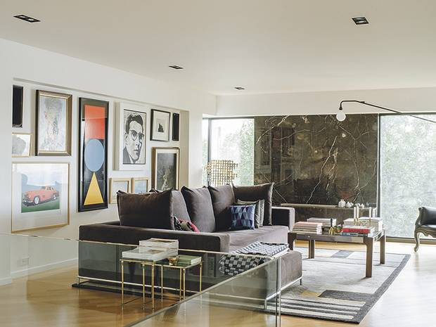 While the exterior structure can't be altered, residents often play with interiors as in the Peart-Weisgerber space.