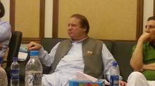 Former prime minister Nawaz Sharif awaits the results of Pakistan's election.