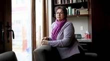 Antonella Mega, wife of Hamid Ghassemi-Shall, a Canadian citizen on death row in Iran, at their home in Toronto on Apr. 17, 2011. (Moe Doiron/The Globe and Mail/Moe Doiron/The Globe and Mail)