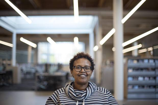 Haney Mussa, Library Service Manager for Toronto Public Library, is photographed in the Albion Library on May 31, 2017.