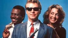 "A promotional photo for the TV series ""Sledge Hammer"""